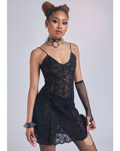 Heaven's Palace Lace Slip Dress