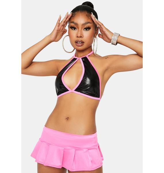 Pump It Up Micro Mini Skirt