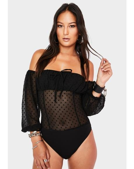 Sheer Swiss Dot Bodysuit
