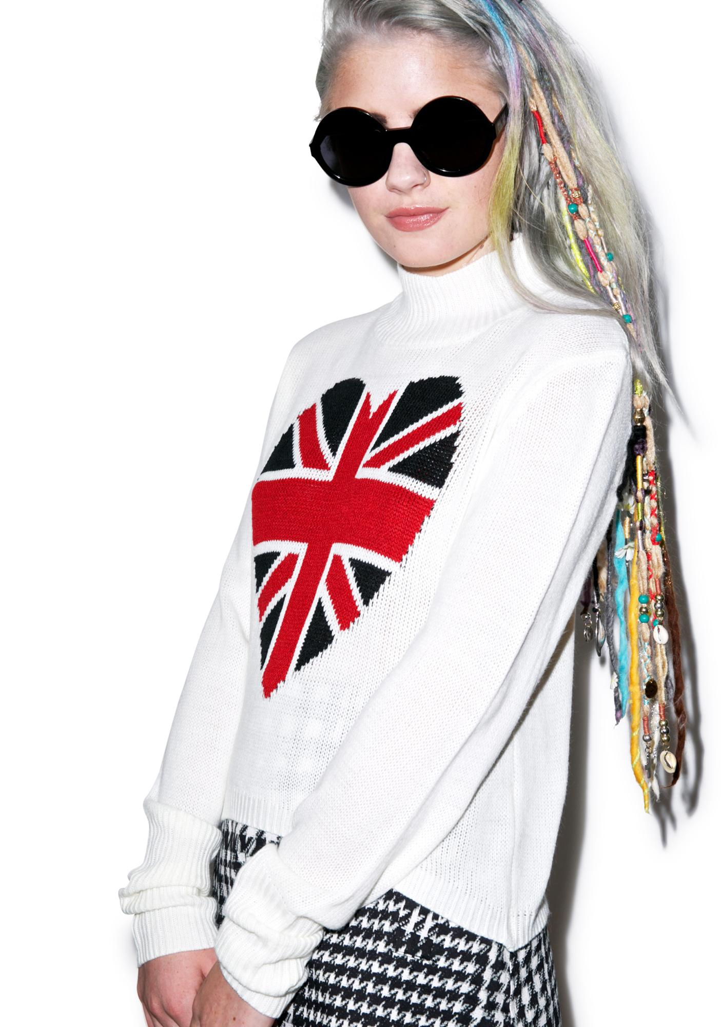 I Heart England Flag Turtleneck