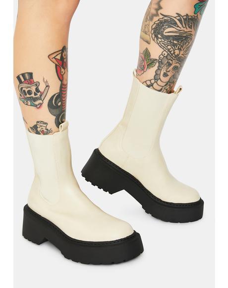 Edie Cream Chelsea Boots
