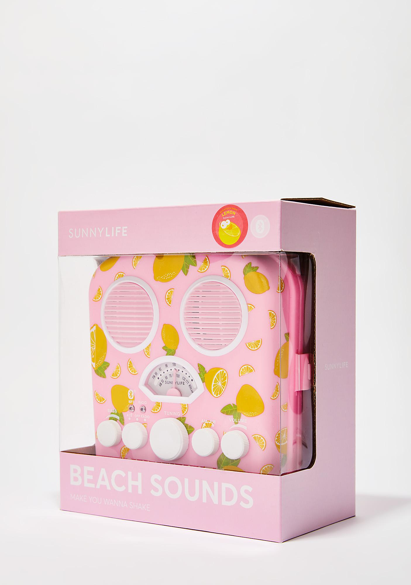 Fresh Lemonade Beach Sounds Speaker