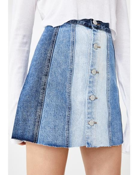 All Or Nothing Denim Skirt