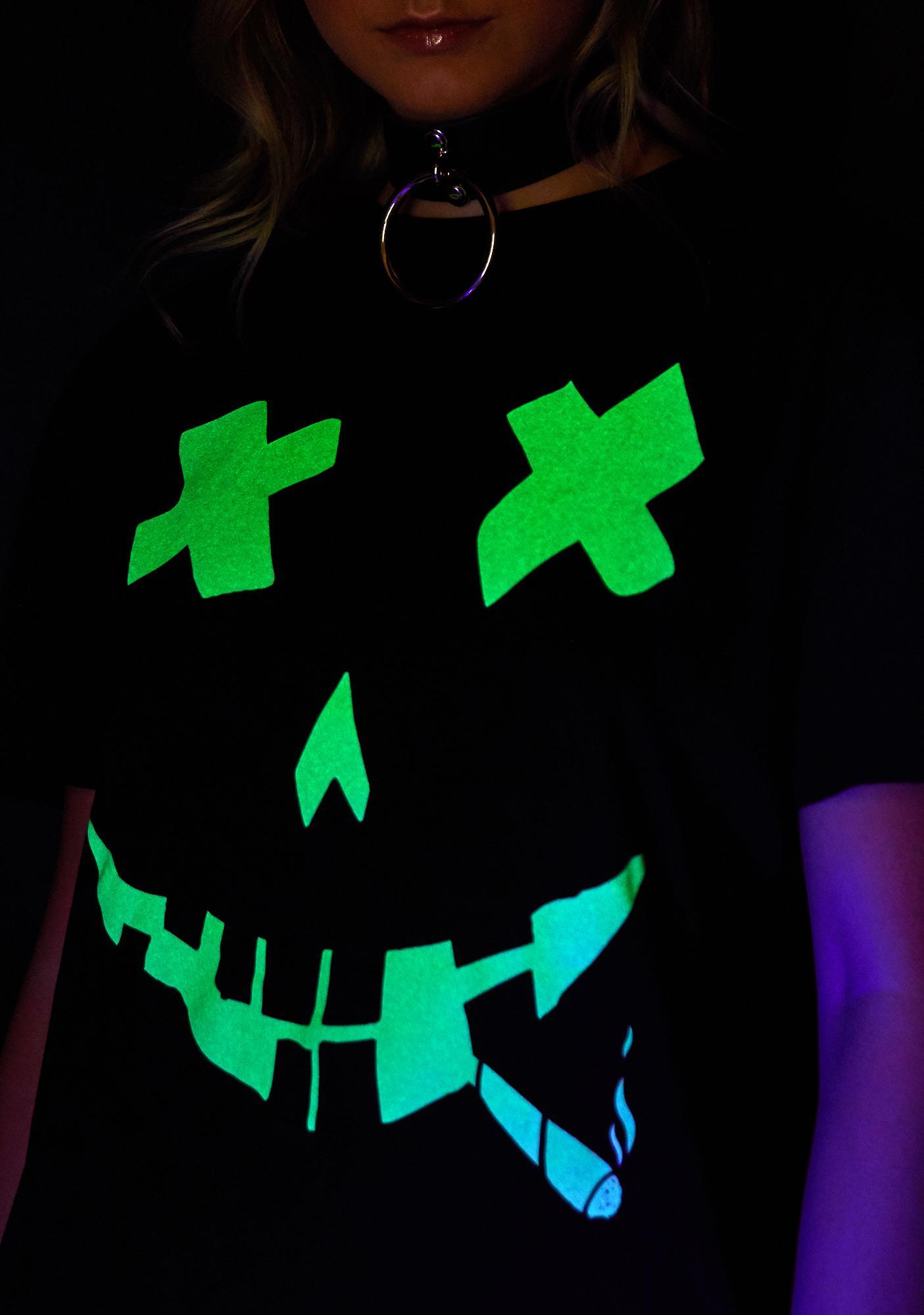 Dolls Kill Get Lit Glow In The Dark Tee
