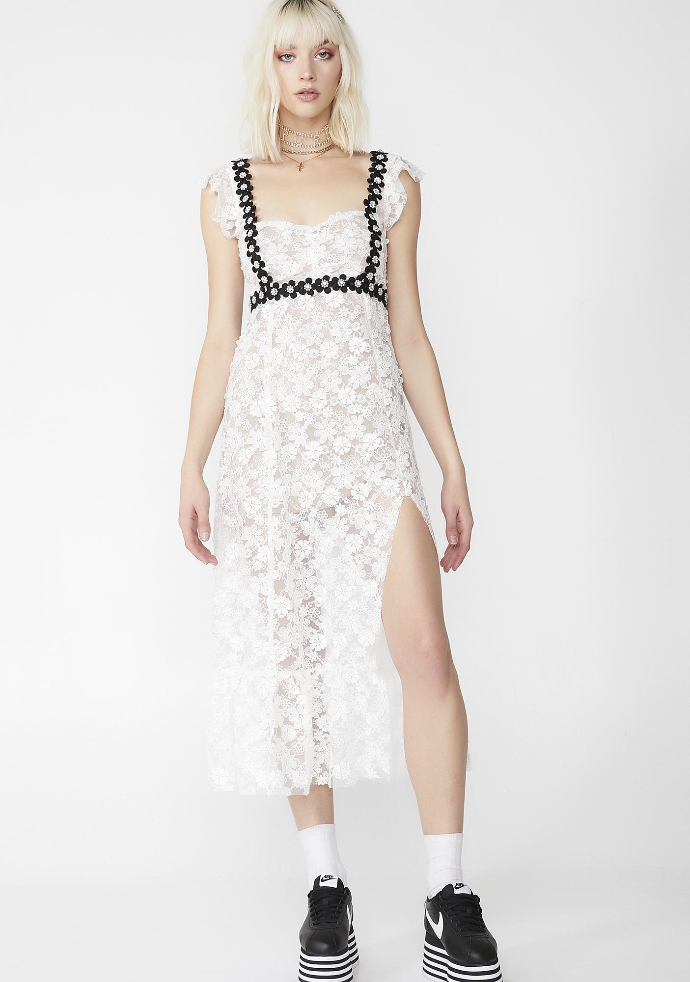 aa31b77facab6f For Love & Lemons Isabel Embroidered Midi Dress | Dolls Kill