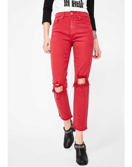 Straight Up Denim Jeans
