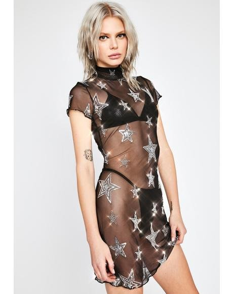 Head In The Stars Mesh Dress