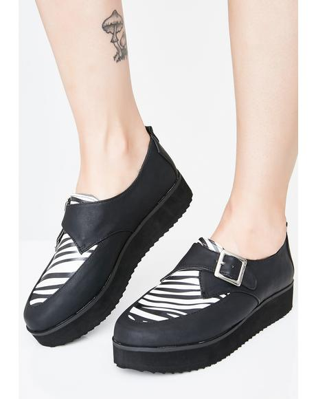Bad News Betty Vegan Leather Creepers