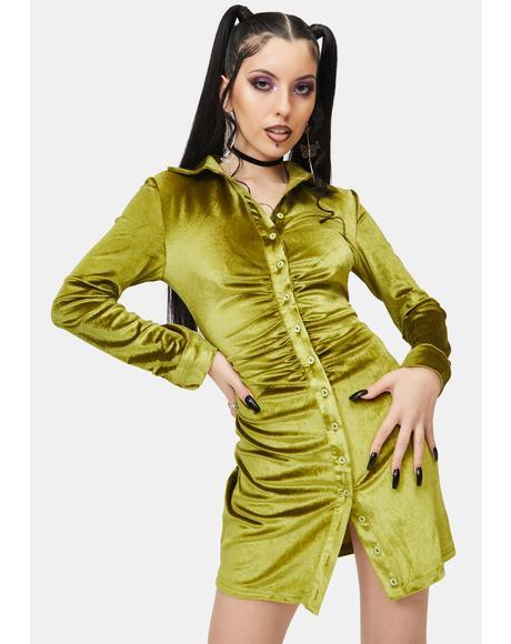 Matcha Velvet Dress
