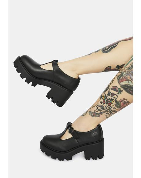 Mary Jane Vegan Leather Heels