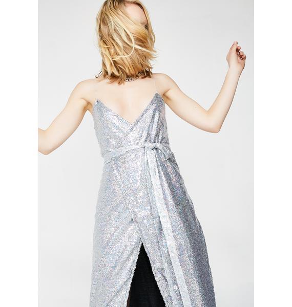 O Mighty Glittoris Wrap Dress