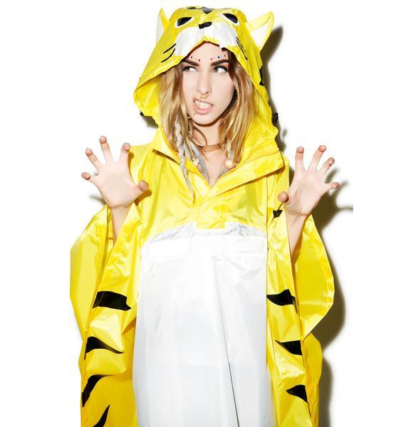 Sazac Tiger Kigurumi Rain Poncho