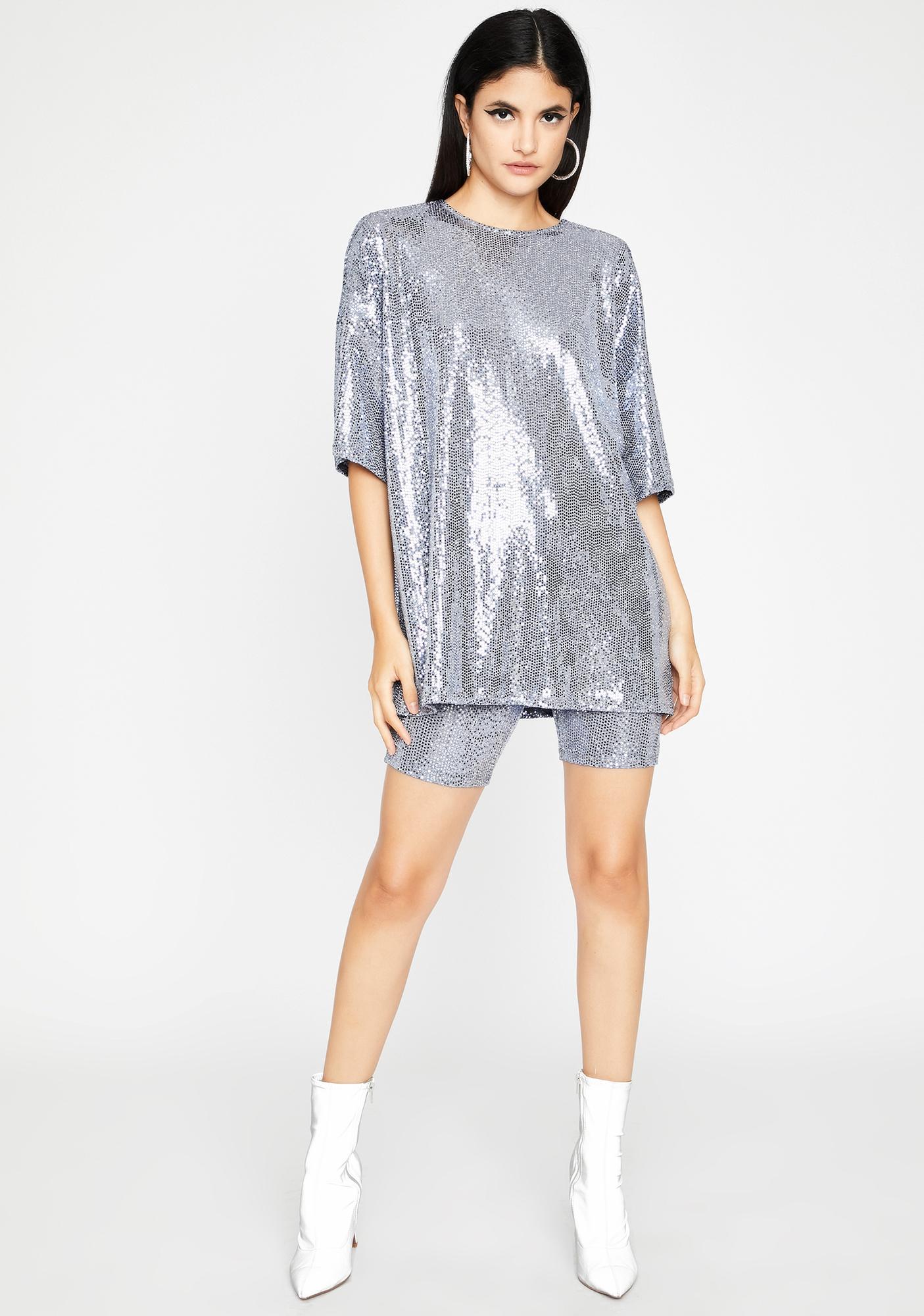 Chill Shiny Stuntin' Sequin Short Set