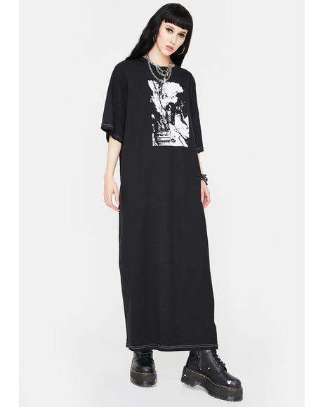 Black Maxi T-Shirt Dress