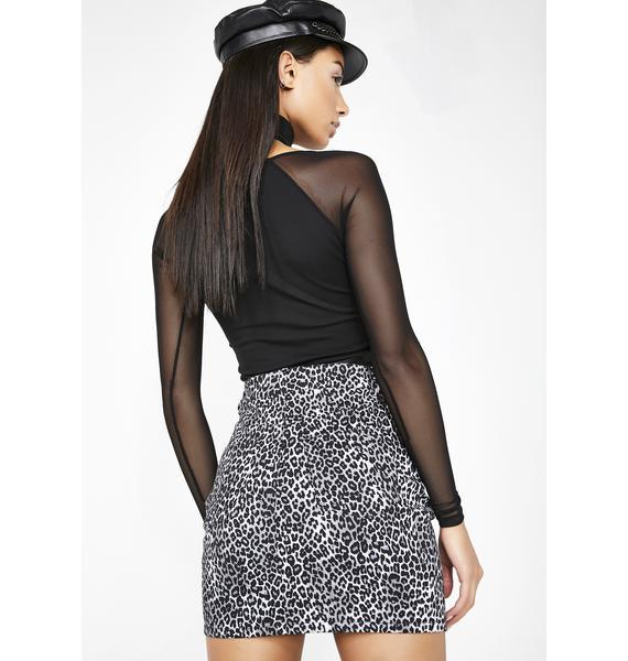 Motel Leopard Broom Skirt