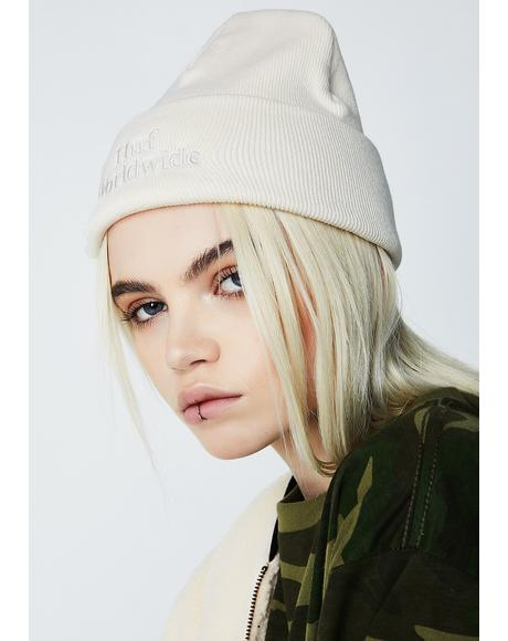 Off White Worldwide Overdyed Beanie