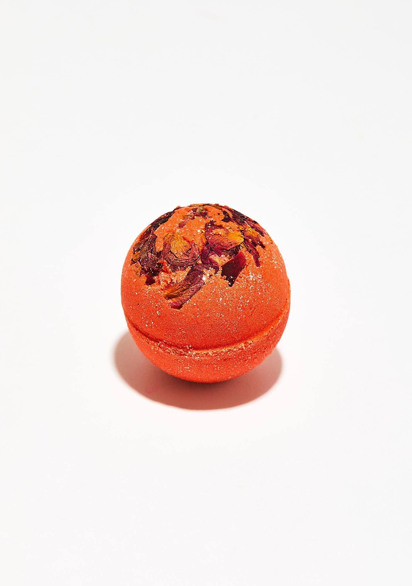 New York's Bathhouse Black Cherry Rose Petals Bath Bomb