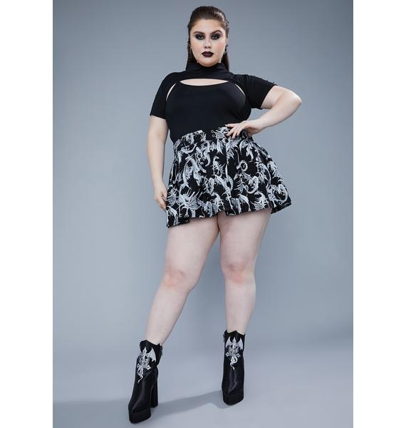 Widow Our Bad Blood Spiked Crop Tee