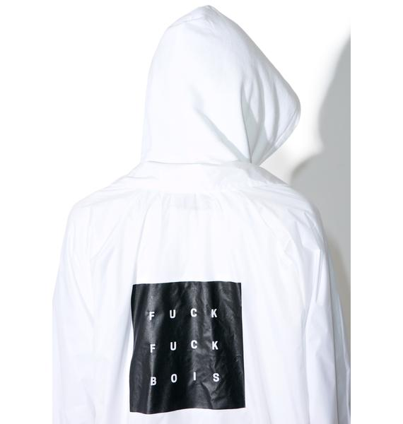 HLZBLZ Whiteout Fuck Bois Coaches Jacket