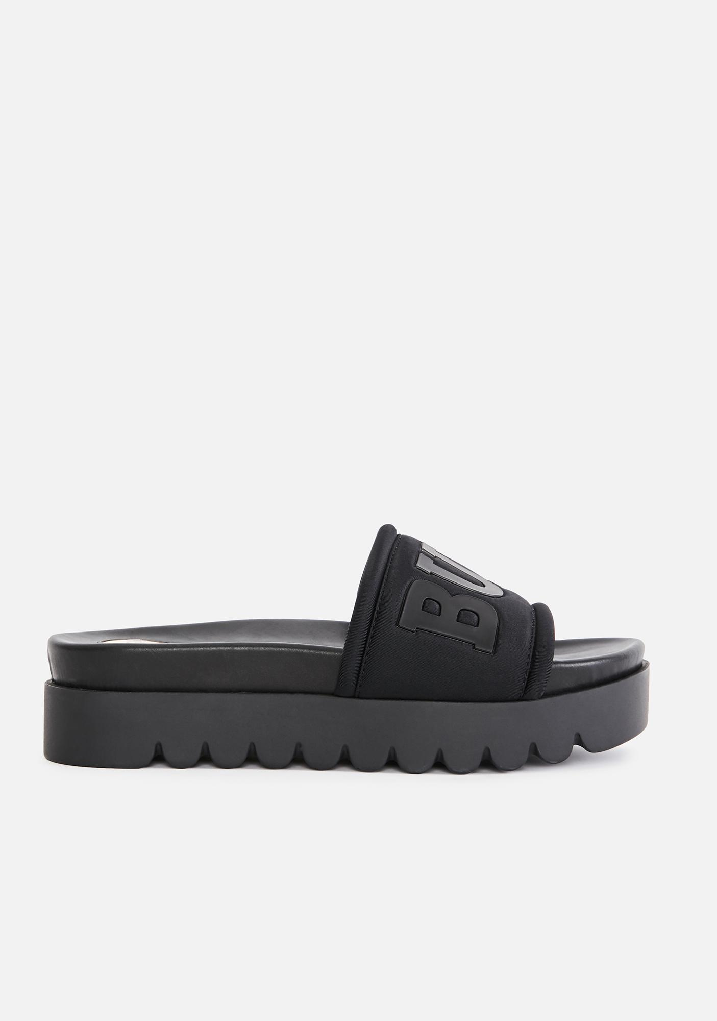 Buffalo Black Edona Platform Slides