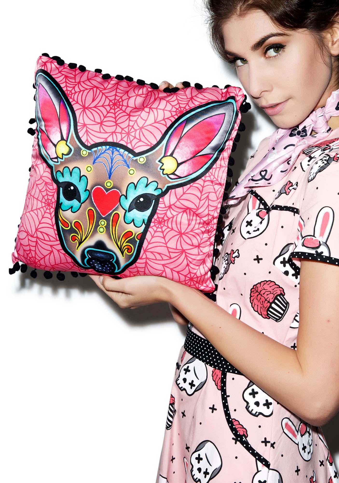 Sourpuss Clothing Deer Woodland Pillow