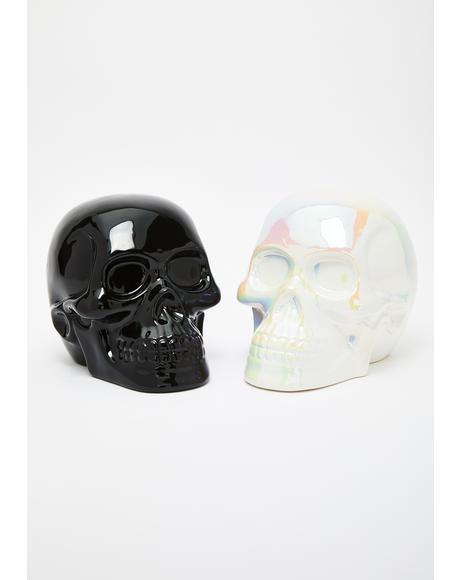 Black Skull Decor