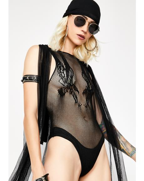 Dom In Matrix Sheer Bodysuit