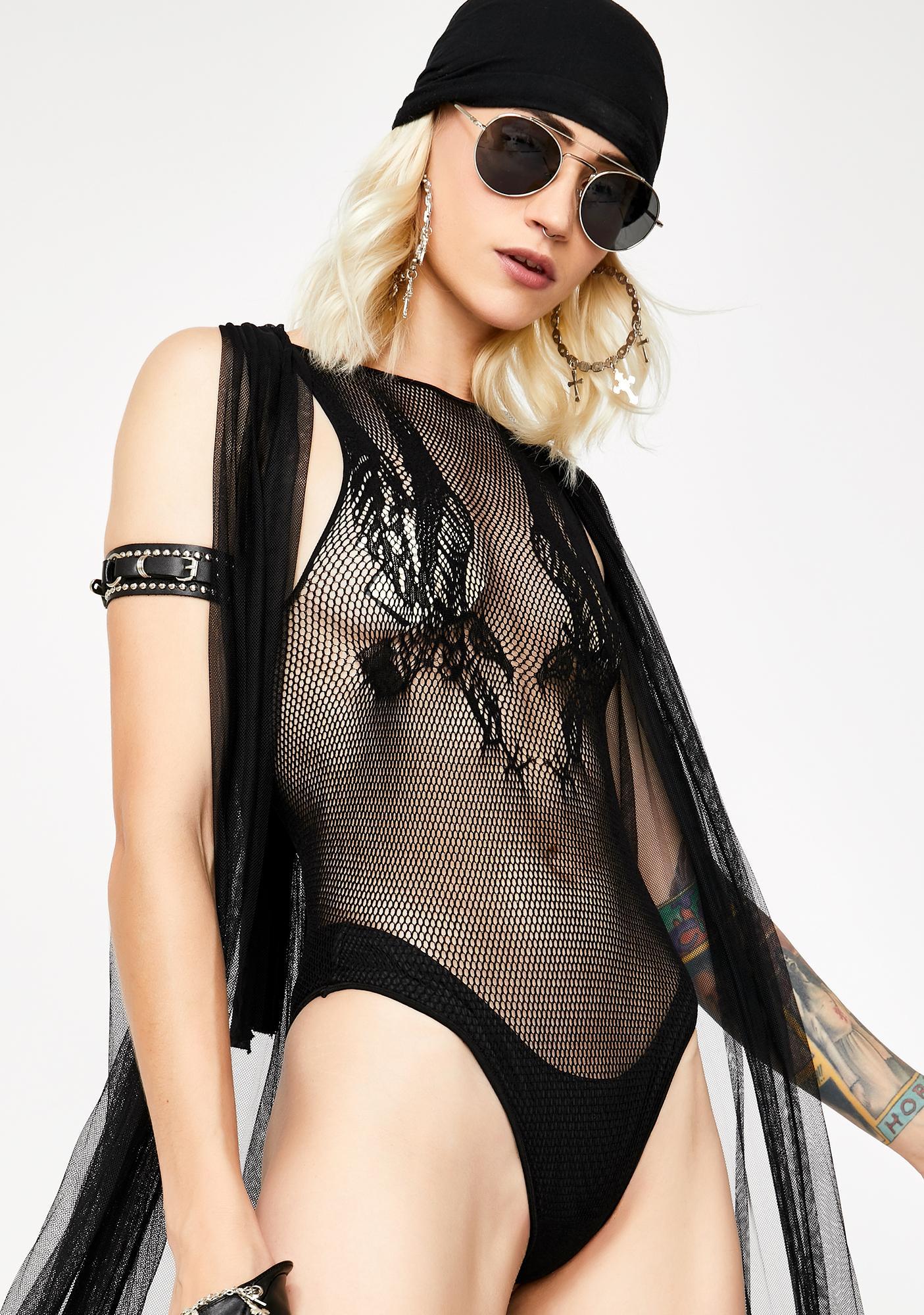 Dom In Matrix Sheer Bodysuit