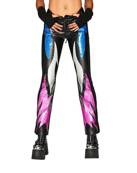 Into The Flames Vegan Leather Pants