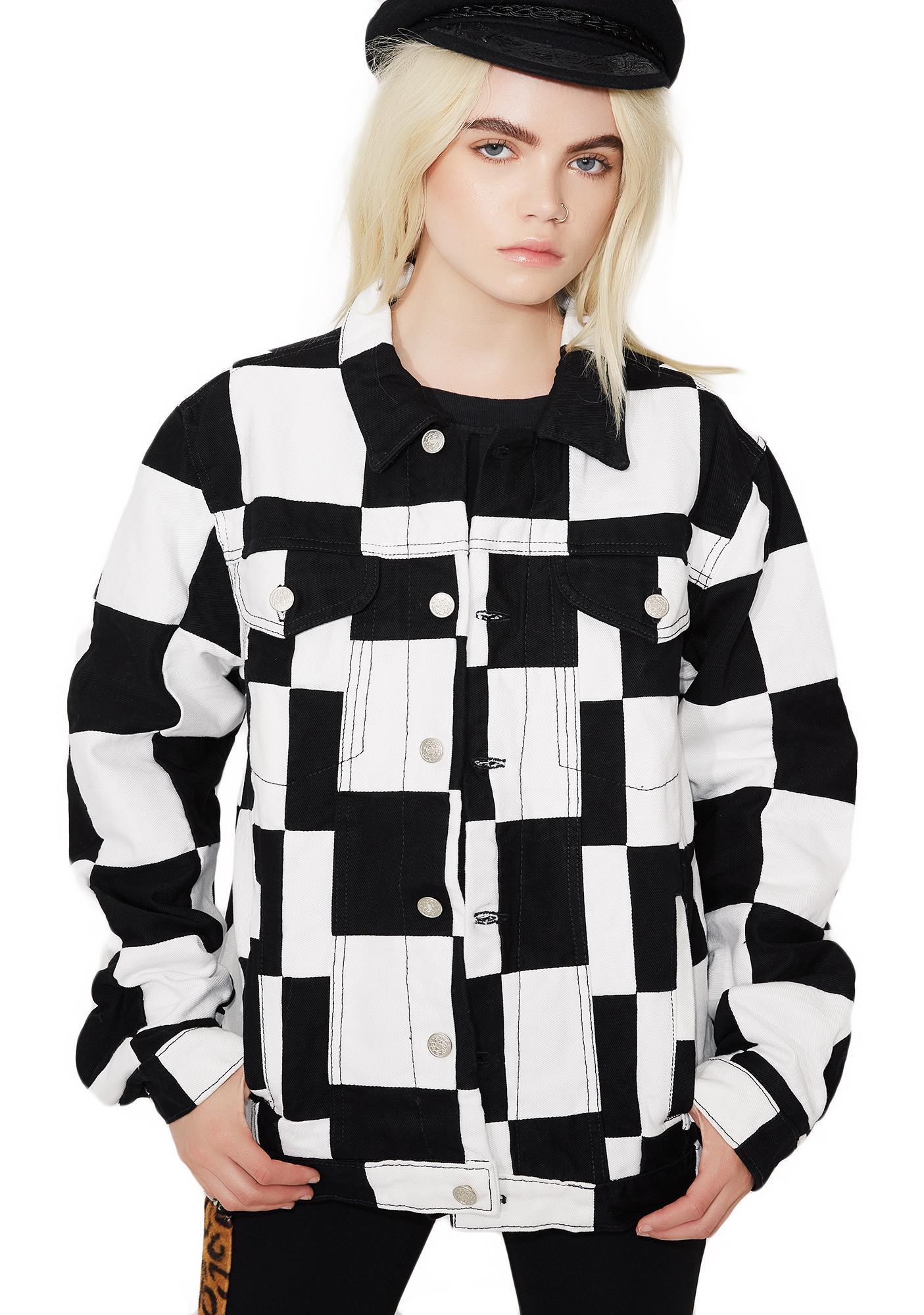 American Vintage Checkered Denim Jacket