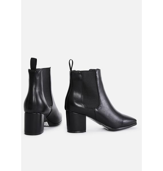 Lamoda Dark Boy Please Pointed Boots