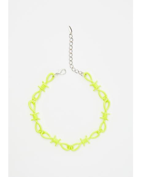 Toxic Touch Barbed Wire Choker