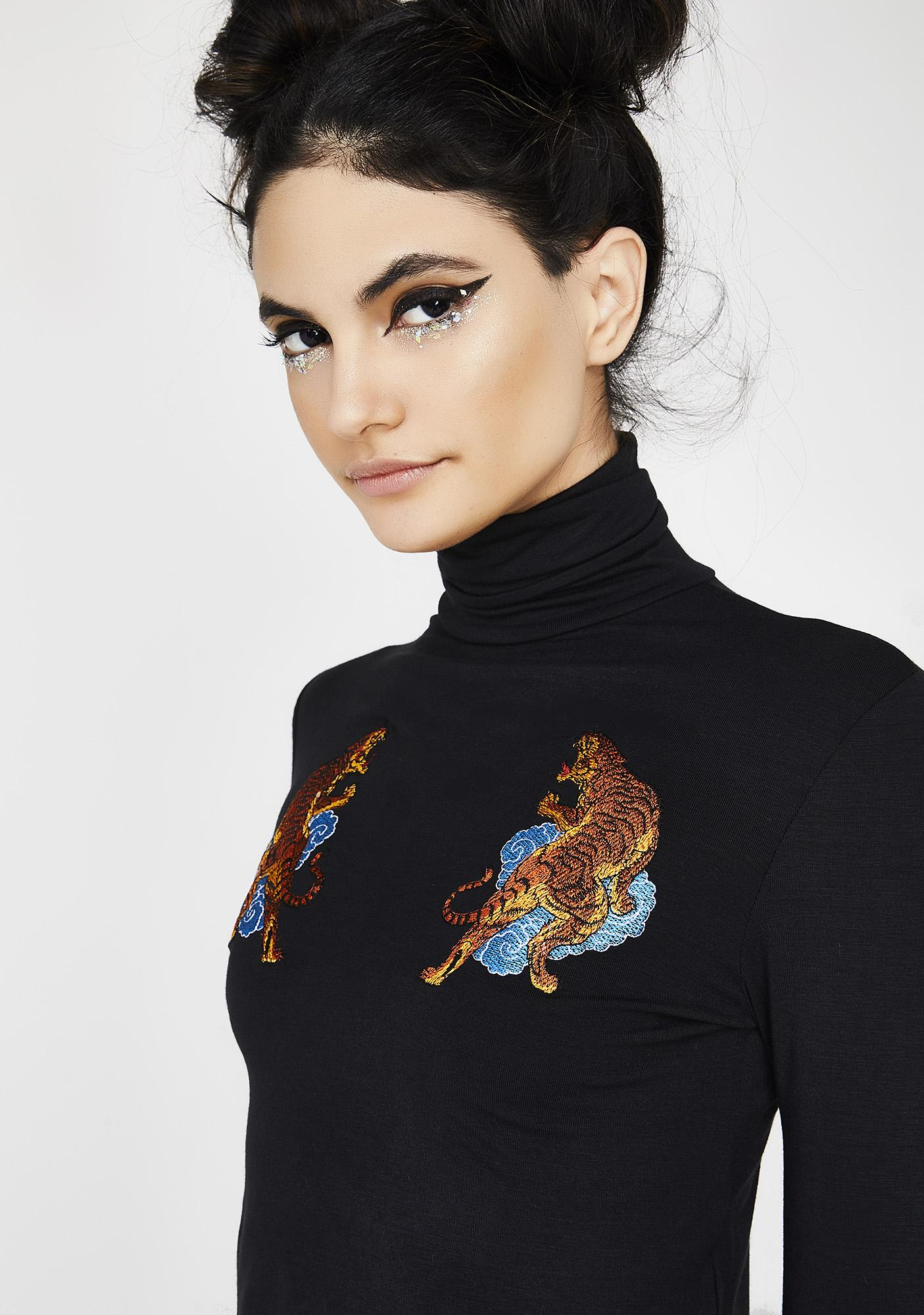 O Mighty Tiger Boobie Turtleneck