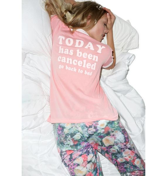 Wildfox Couture Today Has Been Cancelled Vintage Ringer Tee