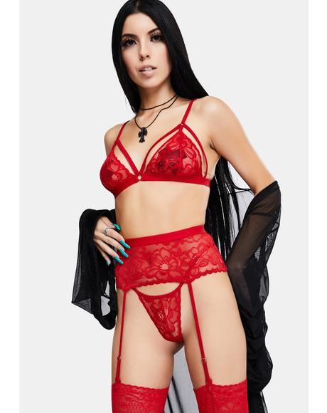 Siren Of Sensuality 3-Piece Lingerie Set