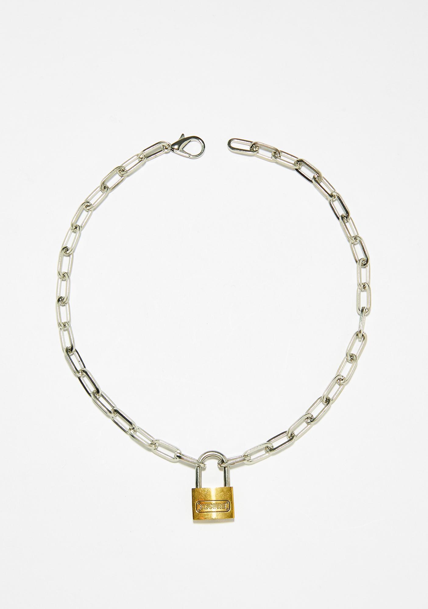 Shop Biohazard Lock Up Chain Choker