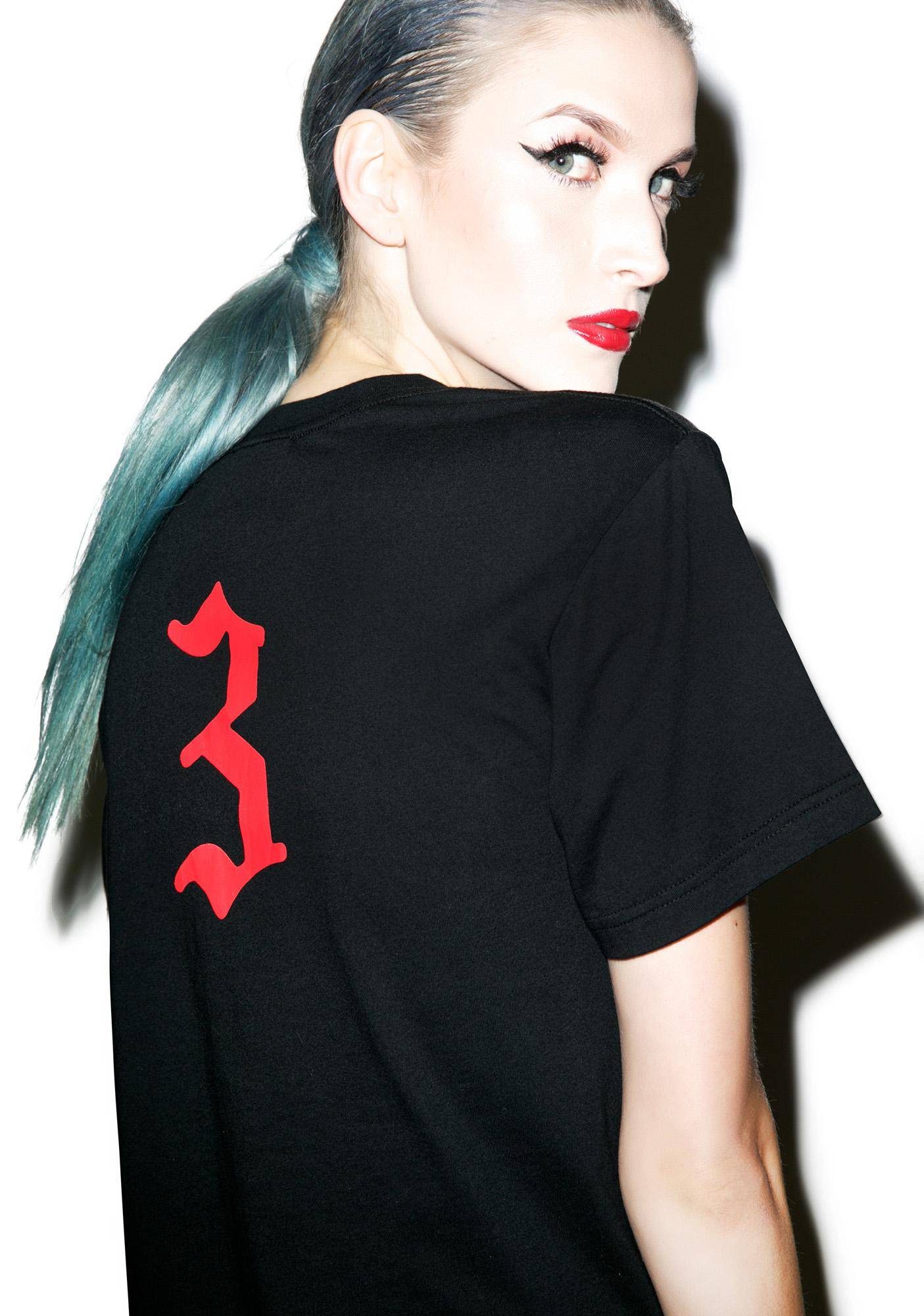 Black Scale Eve's Rib T-Shirt