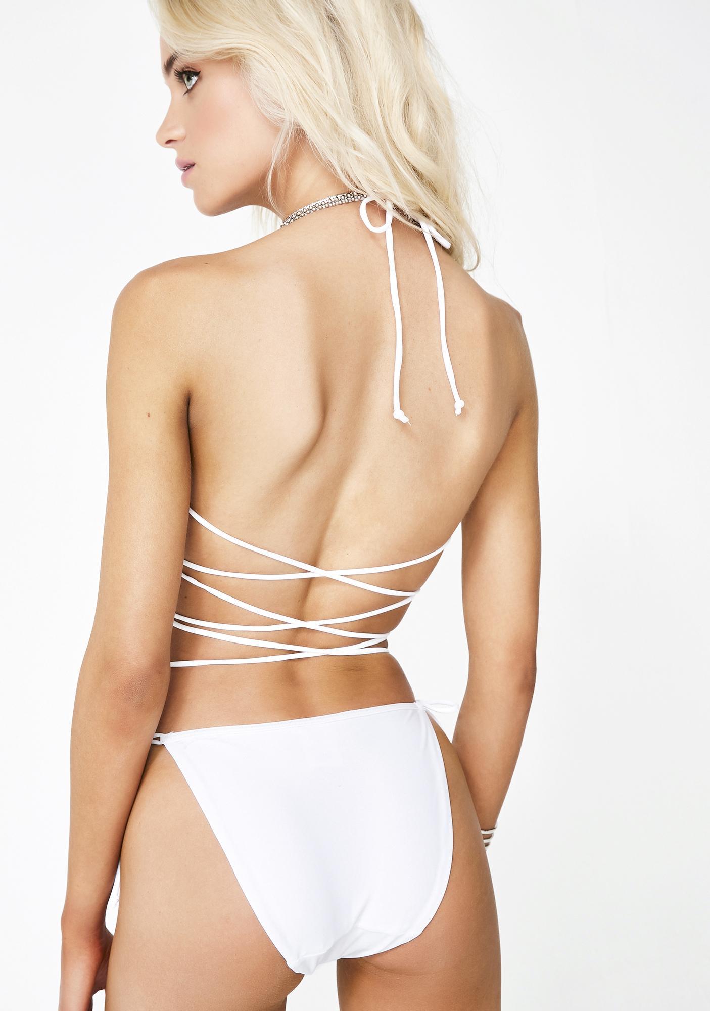 Jaded London Triangle Bikini Bottoms in All Over Diamante