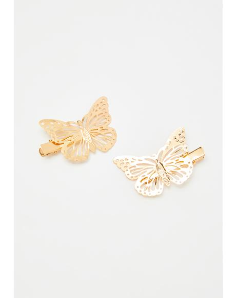 Flutter Away Hair Clips