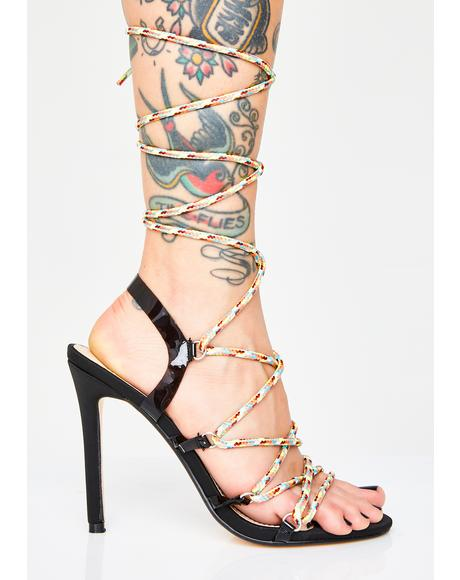 Playa Lace Up Heels