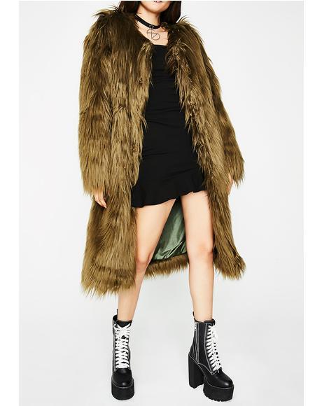 Fur Life Long Coat