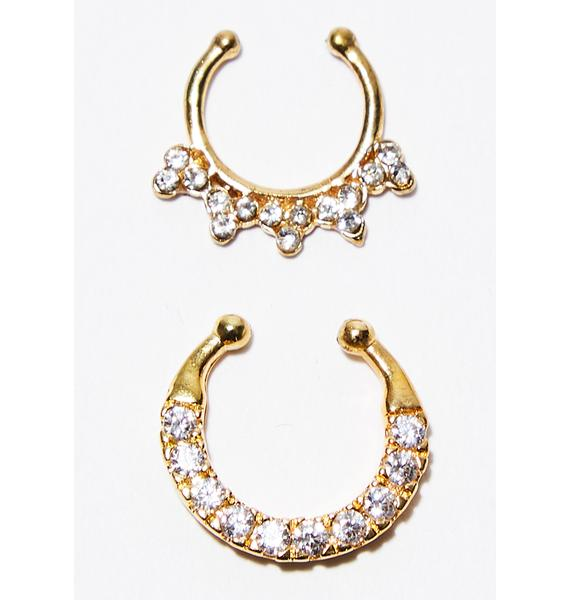 Blinged Out Septum Rings