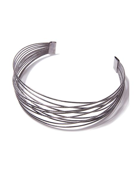 Wired Up Layered Choker
