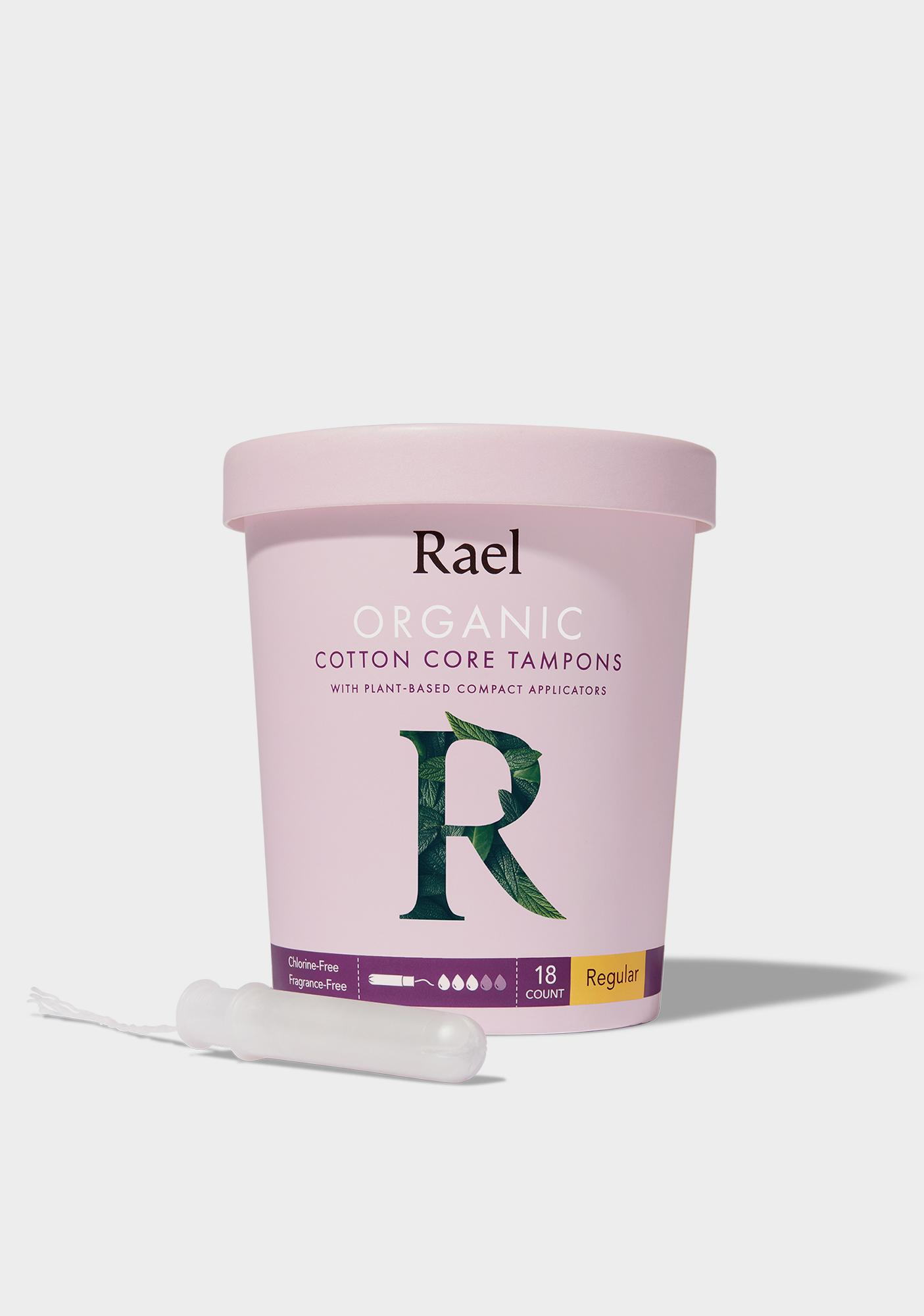Rael Regular Organic Cotton Tampons With Plant-Based Applicators