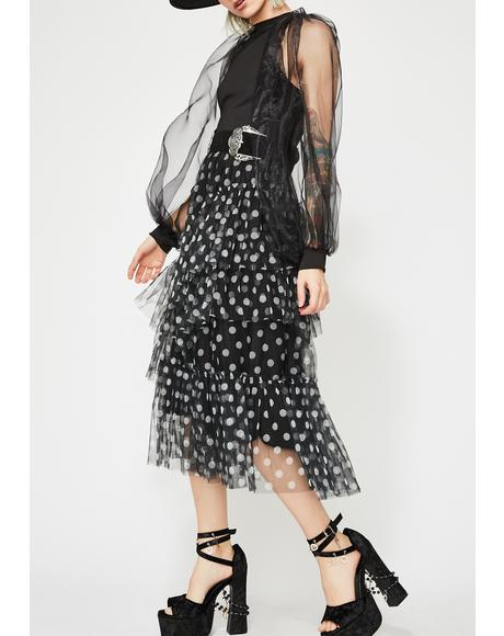 Polka Thot Tulle Skirt