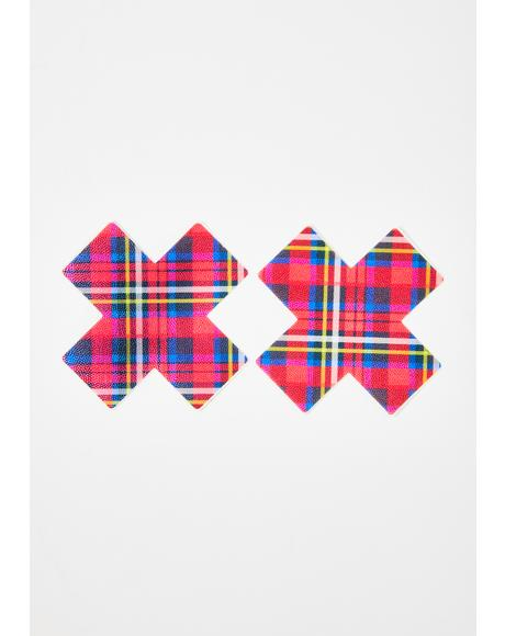 Plaid Cross Pasties
