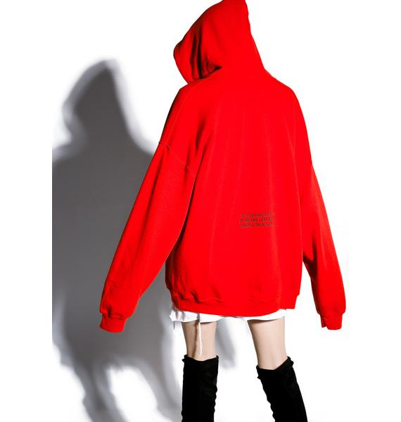 Danielle Guizio Small Talk Oversized Hoodie