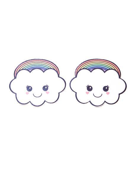 Rainbow Kawaii Cloud Pasties