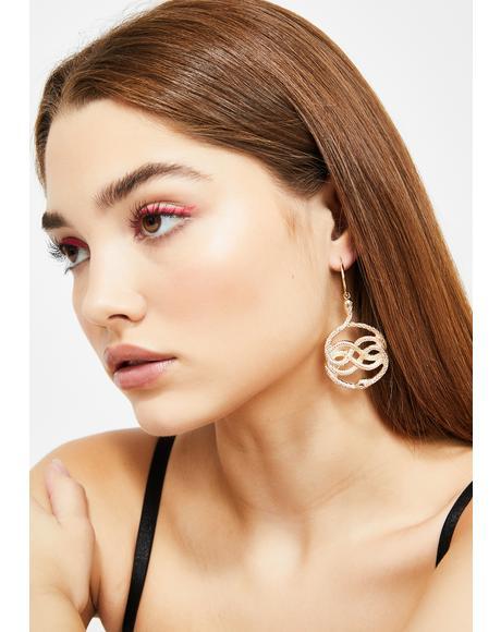 Toxic Embrace Snake Earrings