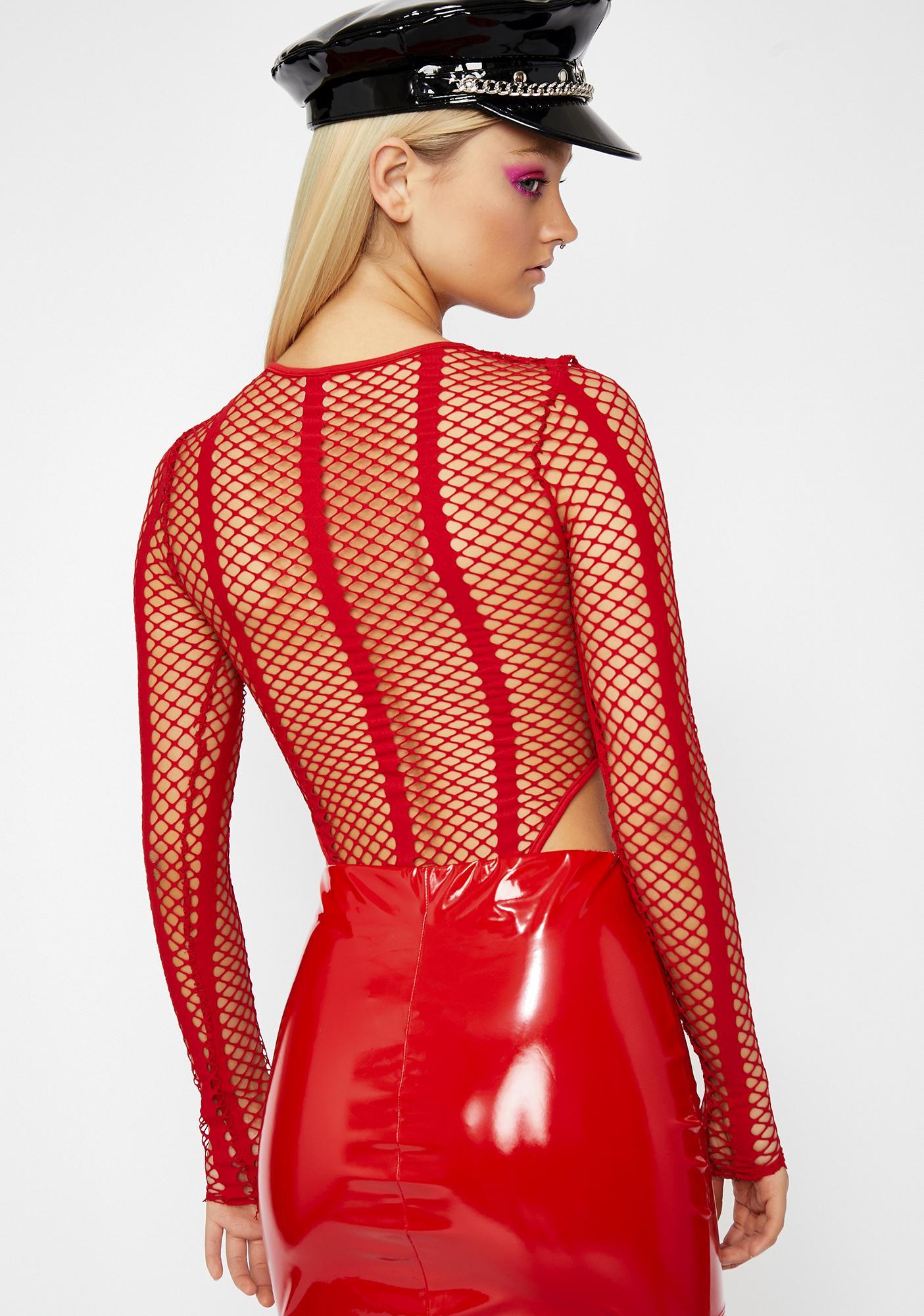 Flame Chaotic Vixen Fishnet Bodysuit